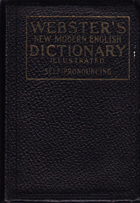 WEBSTERS NEW MODERN ENGLISH DICTIONARY ILLUSTRATED SELF-PRONOUNCING