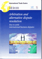 Arbitration and alternative dispute resolution